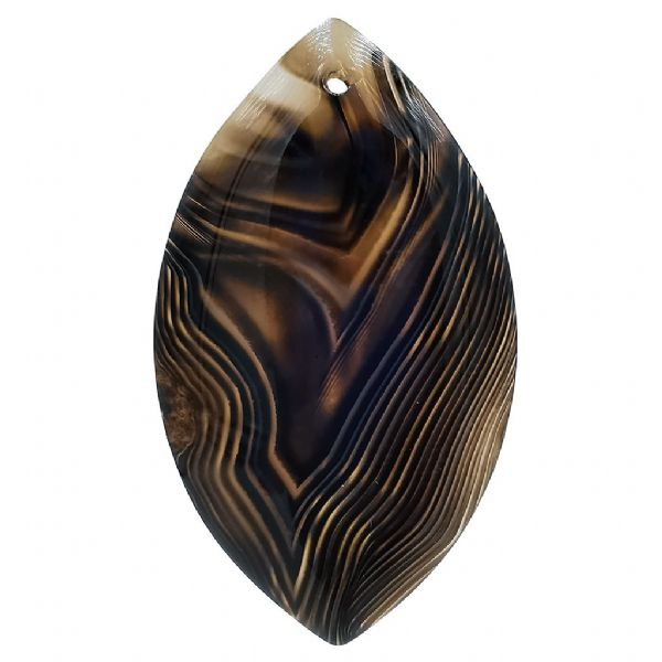 Coffee Horse Eye Agate Pendant